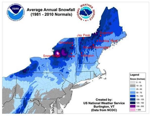 NE Snowfall- Comparison