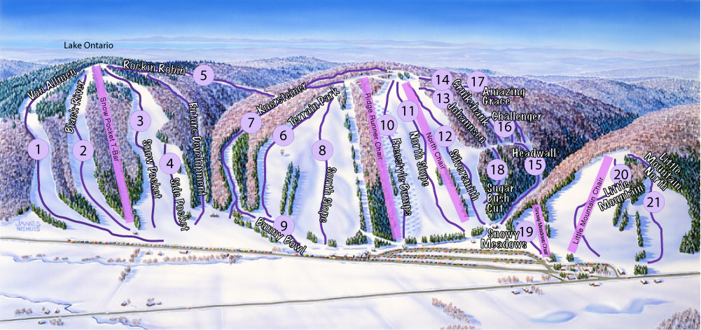 Trail Map/Stats - Snow Ridge on